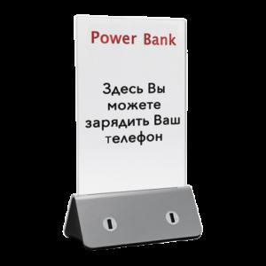 Power Bank - беспроводное зарядное устройство (серебряный) - Power Bank - беспроводное зарядное устройство (серебряный)